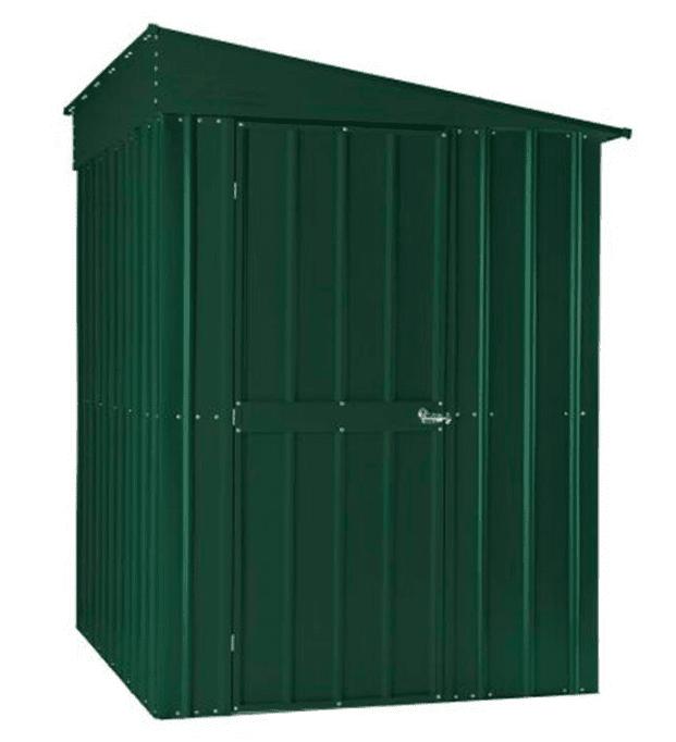 5' x 8' Lotus Heritage Green Lean-To Metal Shed (1.55m x 2.42m)
