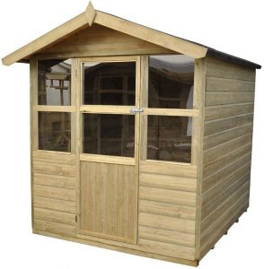 6 x 6 Sherborne Summerhouse Doors And Windows