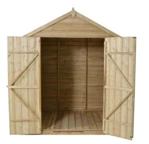 7 x 5 Apex Double Door Pressure Treated Overlap Shed Treatment Requirement And Warranty