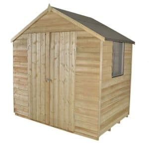 7 x 5 Apex Double Door Pressure Treated Overlap Shed Type And Roof Size