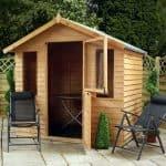 7 x 5 Windsor Overlap Summerhouse - Stable Door