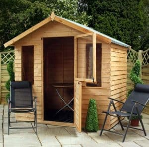 7 x 5 Windsor Overlap Summerhouse - Stable Door