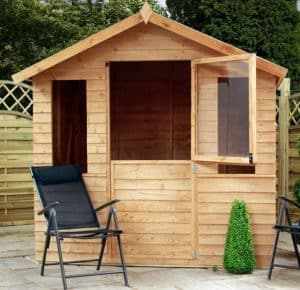 7 x 5 Windsor Overlap Summerhouse - Stable Door - Summerhouse Type And Roof Size