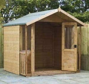 7 x 7 Traditional Summerhouse with Veranda Summerhouse Type And Roof Size
