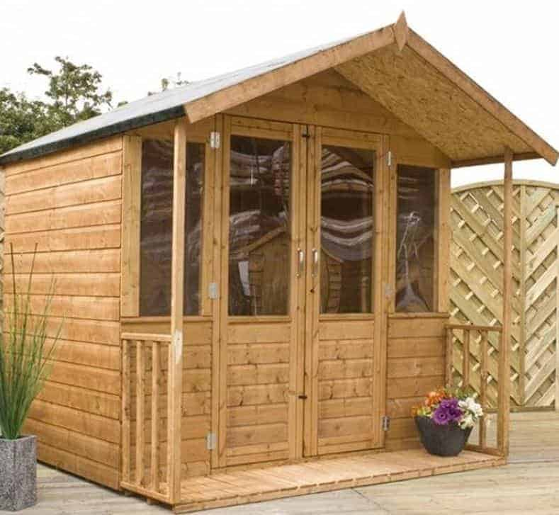 7 x 7 traditional summerhouse with veranda - Garden Sheds With Veranda