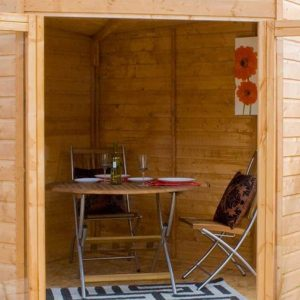 8 x 8 Waltons Wooden Corner Summerhouse Cladding Frame And Floor