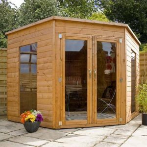 8 x 8 Waltons Wooden Corner Summerhouse Type And Roof Size