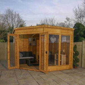 9 x 9 Waltons Premier Corner Summerhouse Cladding Frame And Floor