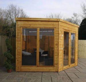 9 x 9 Waltons Premier Corner Summerhouse Type And Roof Size