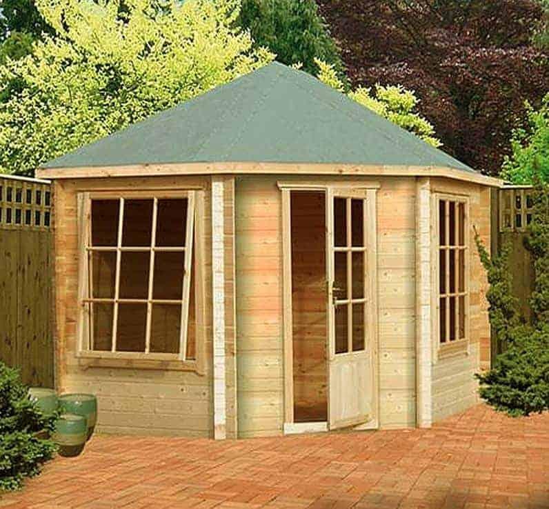 9'9 x 9'9 GardenStyle Amboise Corner Log Cabin