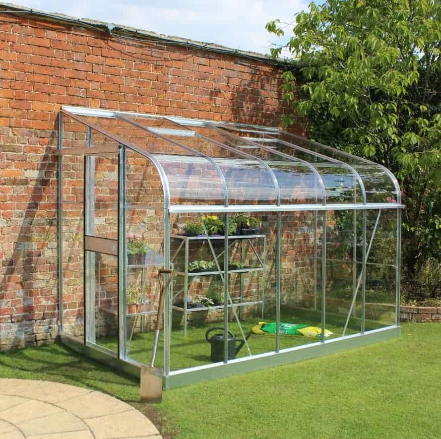 B&Q 10X6 Toughened Safety Glass Lean-To Greenhouse
