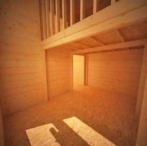 BillyOh Mad Dash Annex Log Cabin Wooden Playhouse - Cladding Frame And Floor