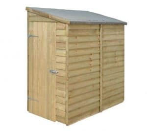 Forest Economy 6 x 3 Overlap Wall Shed - Shed Type and Roof Size