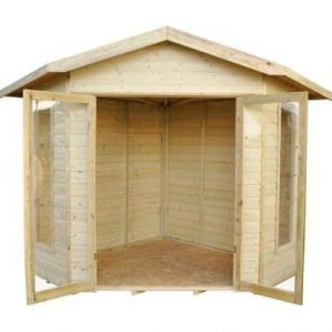 Forest Honeybourne Pressure Treated Corner Summer House Cladding Frame And Floor
