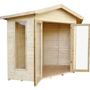 Forest Honeybourne Pressure Treated Corner Summer House Doors And Windows