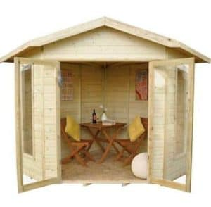 Forest Honeybourne Pressure Treated Corner Summer House Type And Roof Size