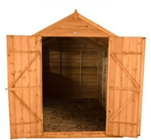 Hartwood 6' x 10' Double Door Overlap Apex Workshop Cladding Frame And Floor