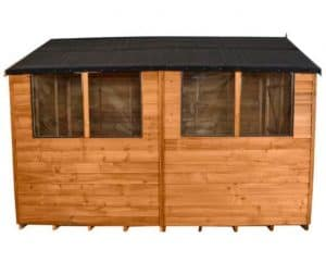 Hartwood 6' x 10' Double Door Overlap Apex Workshop Customisation Options And Extras