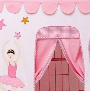 Kidsley Ballet School Playhouse with Quilt - Doors And Windows
