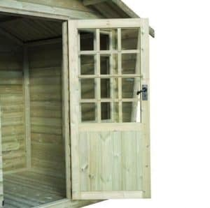 Strongman 6ft x 8ft Alpine Tanalised Summerhouse Doors And Windows