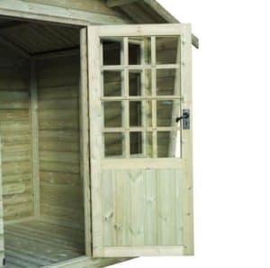 Strongman 6ft x 8ft Alpine Tanalised Summerhouse Doors And Windows
