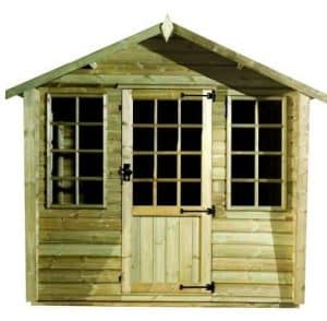 Strongman 6ft x 8ft Alpine Tanalised Summerhouse Type And Roof Size