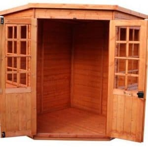Strongman 7ft x 7ft Pentagon Shiplap Corner Summerhouse Cladding, Frame And Floor