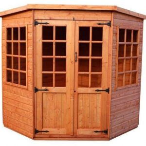 Strongman 7ft x 7ft Pentagon Shiplap Corner Summerhouse Type And Roof Size