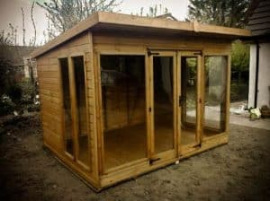 Sunningdale Summerhouse 8' x 6' Summerhouse Type And Roof Size