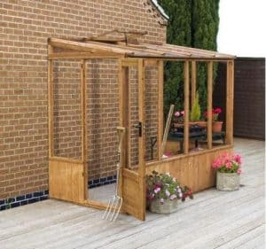 Winchester 8ft x 4ft Greenhouse Lean to Pent Unit - Lean To Greenhouse Type And Roof Size