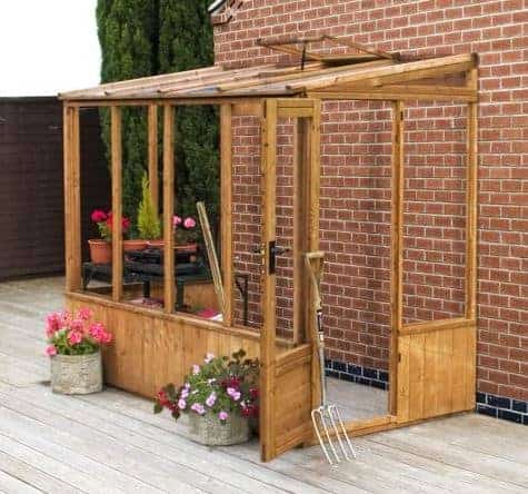 Winchester 8ft x 4ft Greenhouse Lean to Pent Unit