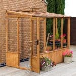 Windsor 84 Wooden Lean-To Greenhouse