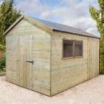 10-x10 x 8 Shed-Plus Heavy Duty Combination Double Door Wooden Shed