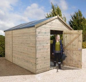 10 x 8 Shed-Plus Heavy Duty Combination Double Door Wooden Shed Type And Roof Size
