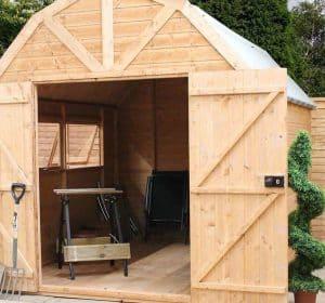 10 x 8 Windsor Groundsman Dutch Barn Shed Cladding Frame And Floor
