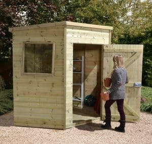 6'8 x 6'8 Ultimate Heavy Duty Corner Wooden Shed Type And Roof Size