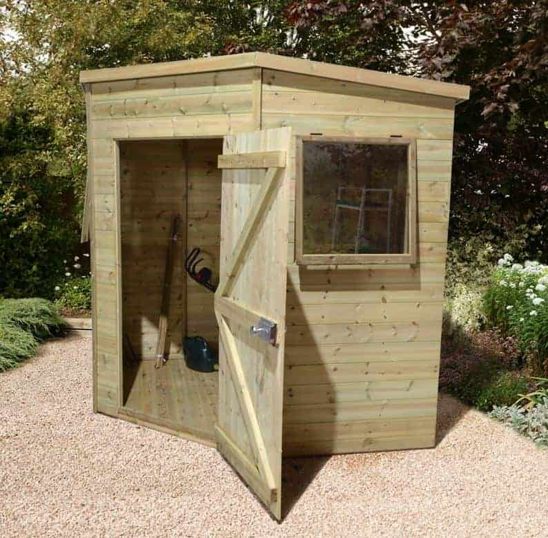 6'8 x 6'8 Ultimate Heavy Duty Corner Wooden Shed