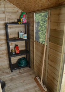 6 x 4 Overlap Pressure Treated Wooden Shed With Lean-To Cladding Frame And Floor