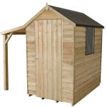 6 x 4 Overlap Pressure Treated Wooden Shed With Lean-To Treatment Requirement And Warranty