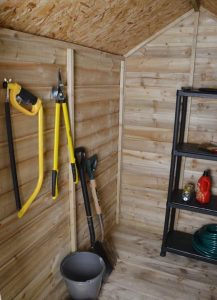 6 x 4 Overlap Pressure Treated Wooden Shed With Lean-To Type And Roof Size