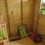 7 x 5 Shed-Plus Champion Heavy Duty Pent Wooden Shed With Logstore Doors And Windows