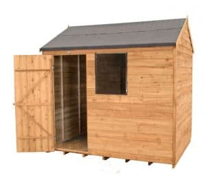 8 X 6 Reverse Apex Overlap Wooden Shed Cladding Frame And Floor