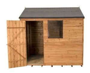 8 X 6 Reverse Apex Overlap Wooden Shed Doors And Windows