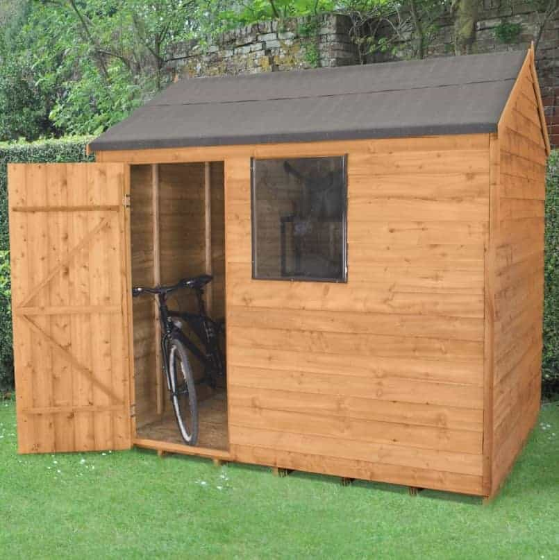 8 X 6 Reverse Apex Overlap Wooden Shed