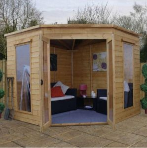 Avon 8' x 8' Chelsea Corner Summer House Cladding and Flooring