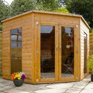 Avon 8' x 8' Chelsea Corner Summer House Doors and Windows