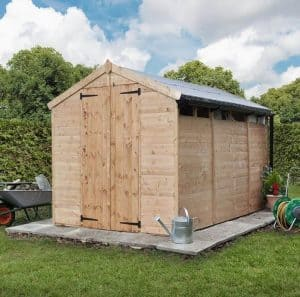 BillyOh 300 Privacy 10 x 6 Wooden Shed Type And Roof Size