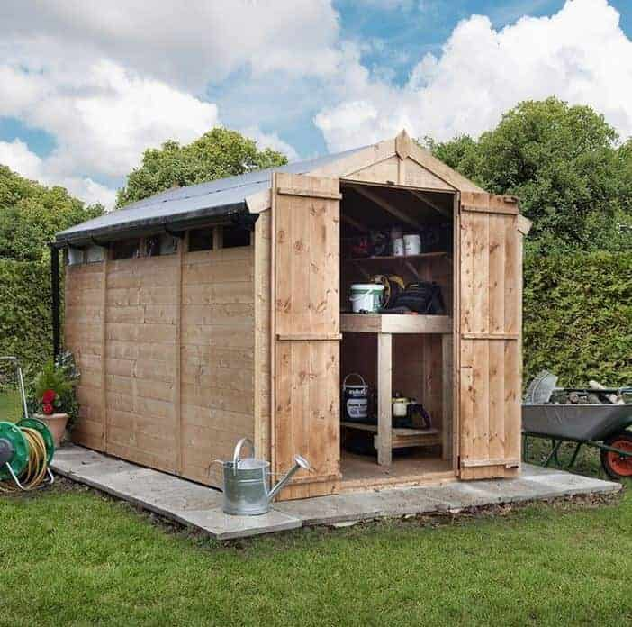 Billyoh 300 privacy 10 x 6 wooden shed for Garden shed homebase