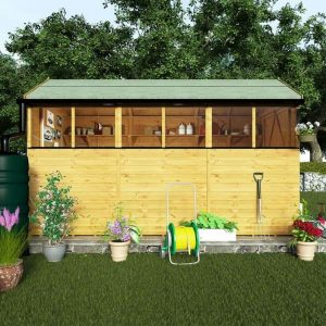 BillyOh 5000 12 x 6 Wooden Shed Doors And Windows