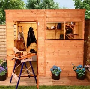 BillyOh Greenkeeper Pent 8 x 6 Shed Cladding Frame And Floor
